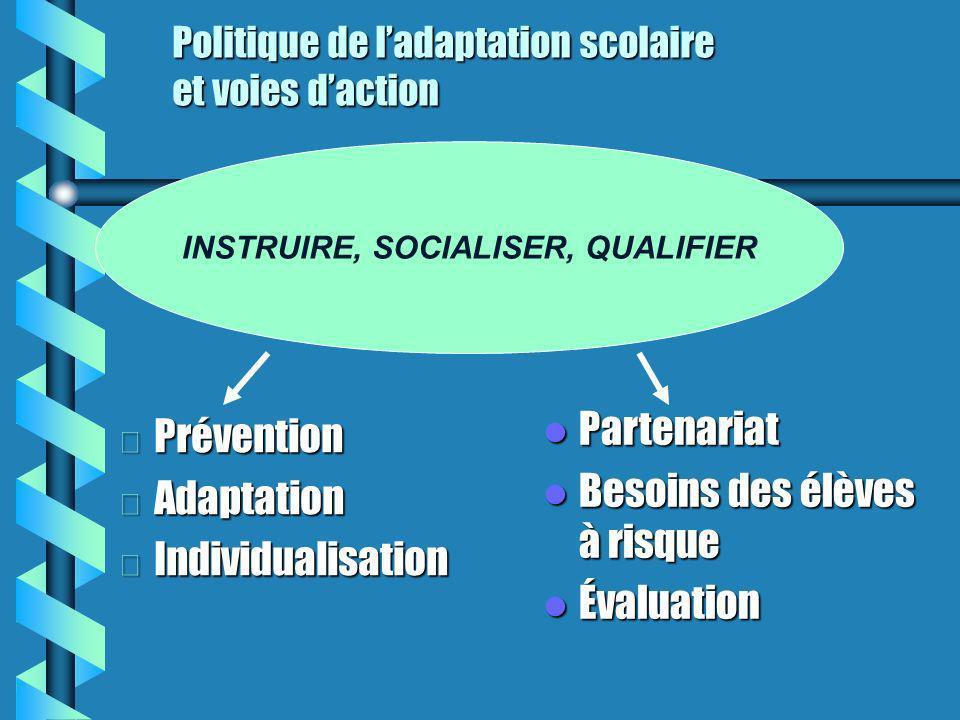 Politique de l'adaptation scolaire et voies d'action