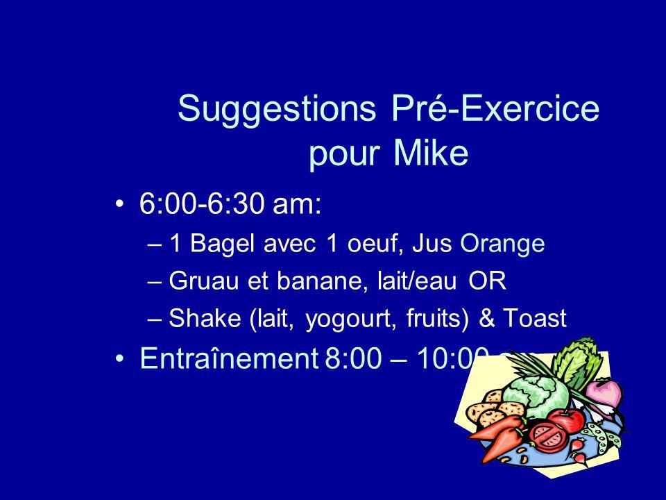 Suggestions Pré-Exercice pour Mike