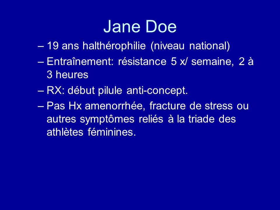 Jane Doe 19 ans halthérophilie (niveau national)