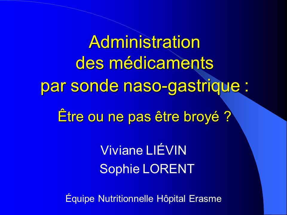 Équipe Nutritionnelle Hôpital Erasme