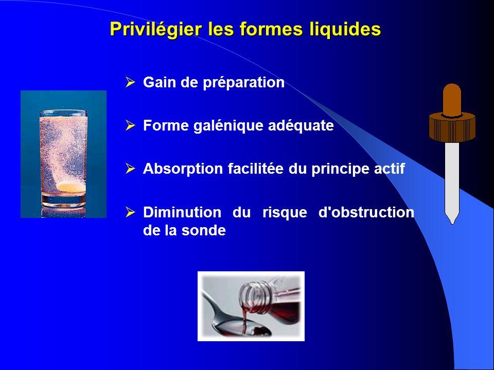 Privilégier les formes liquides