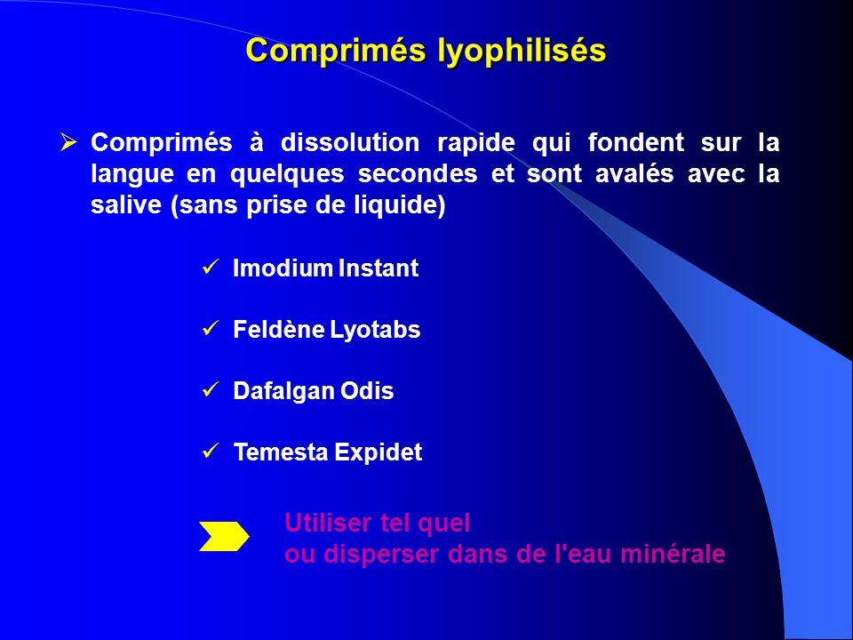Comprimés lyophilisés
