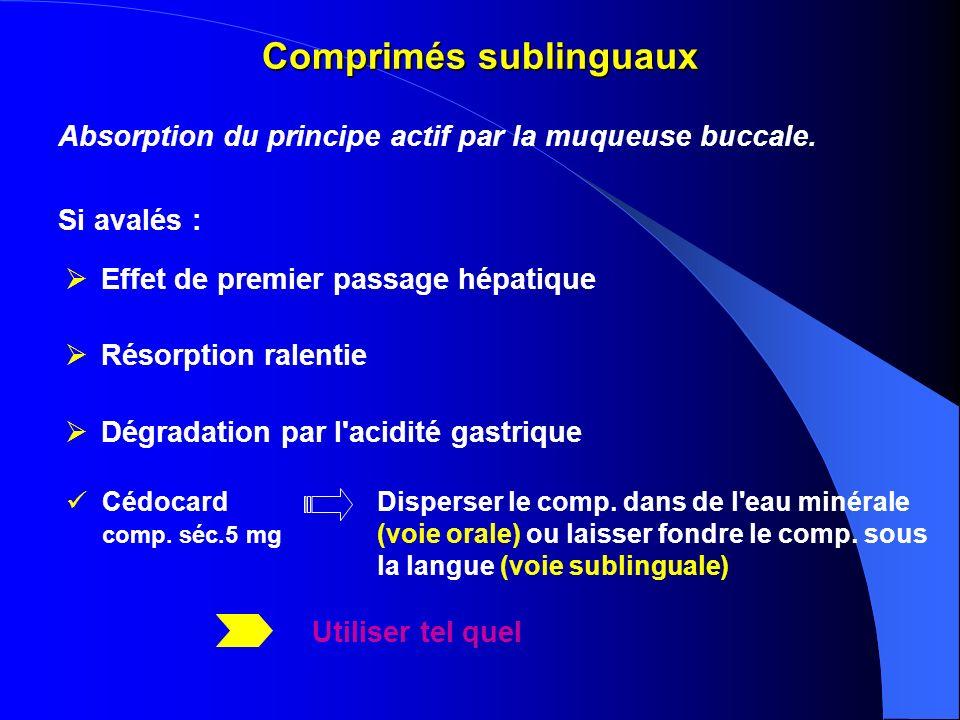Comprimés sublinguaux