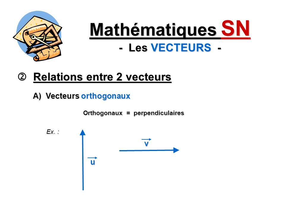 Mathématiques SN - Les VECTEURS -