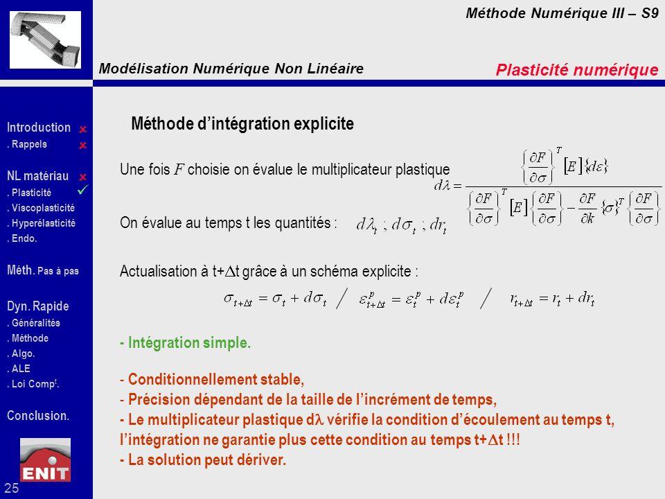 Méthode d'intégration explicite