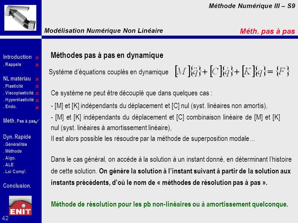 Système d'équations couplés en dynamique