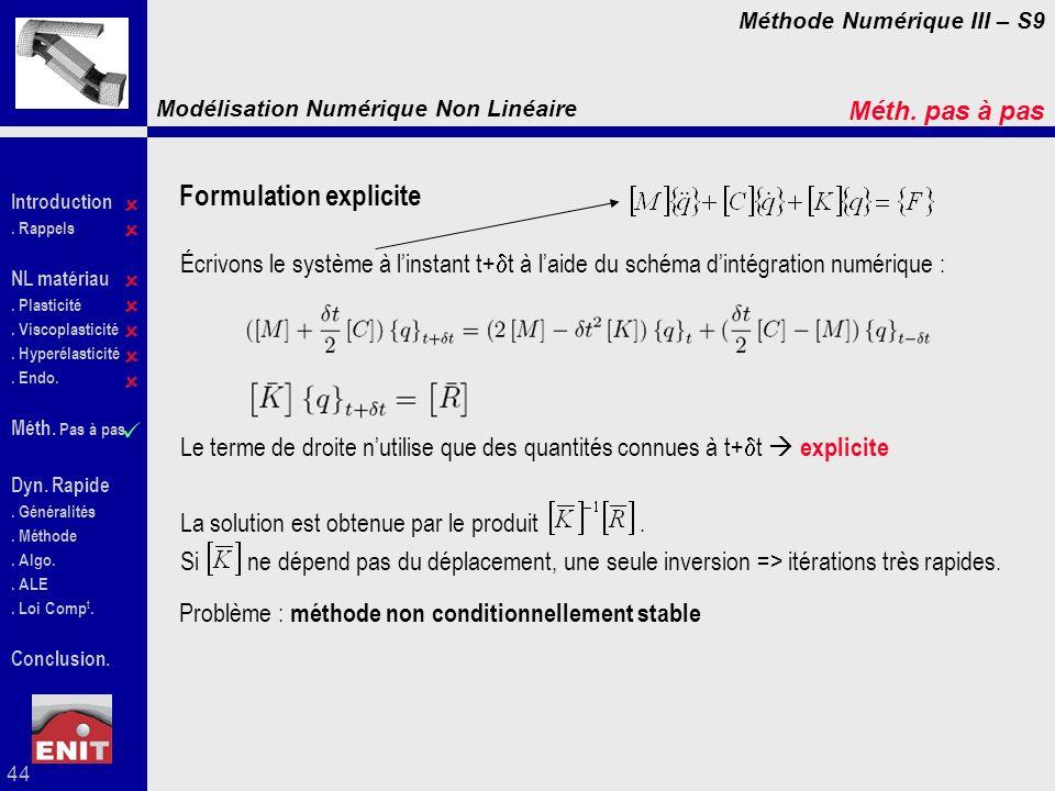 Formulation explicite