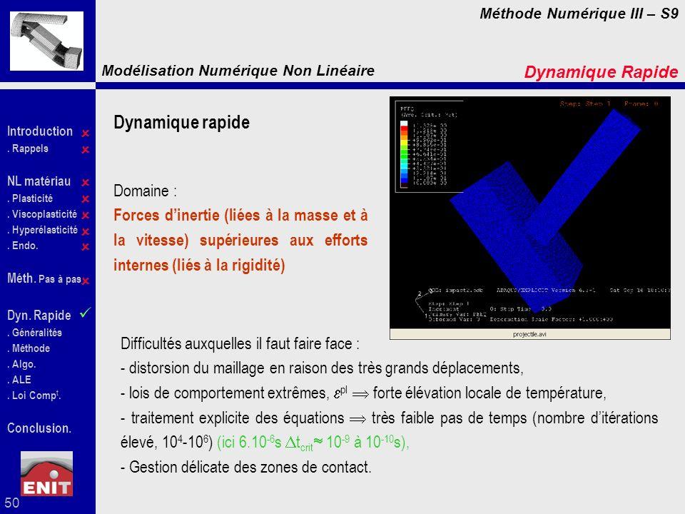 Dynamique rapide Dynamique Rapide  Domaine :
