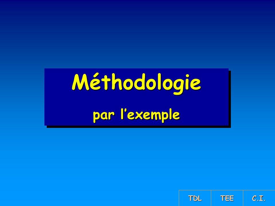 Méthodologie par l'exemple TDL TEE C.I.