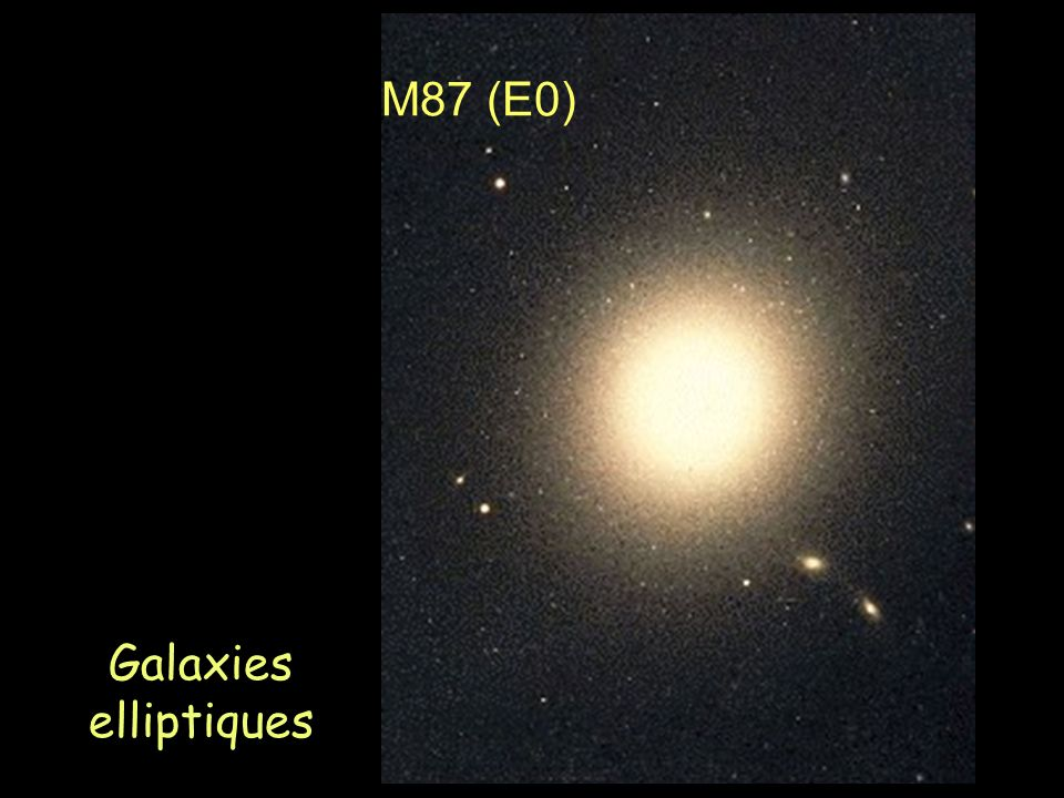 M87 (E0) Galaxies elliptiques