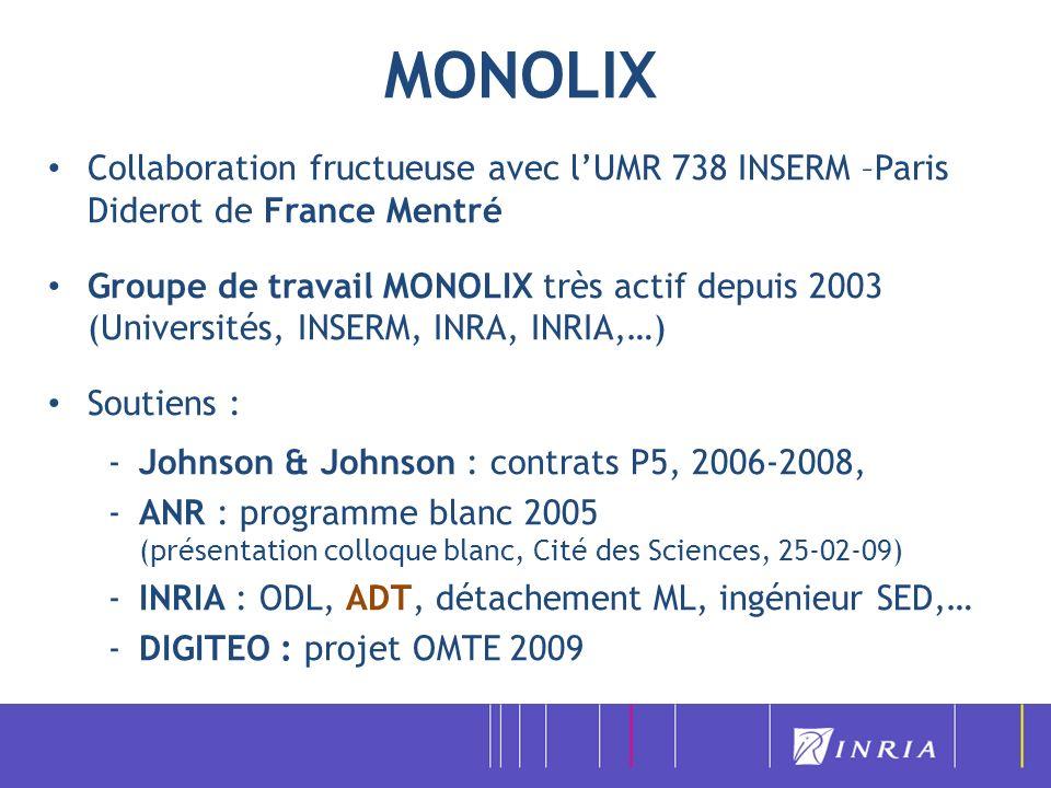 MONOLIX Collaboration fructueuse avec l'UMR 738 INSERM –Paris Diderot de France Mentré.