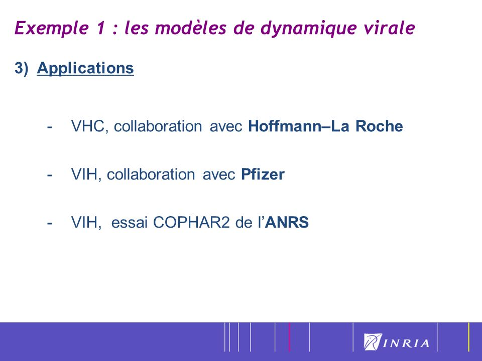 Exemple 1 : les modèles de dynamique virale