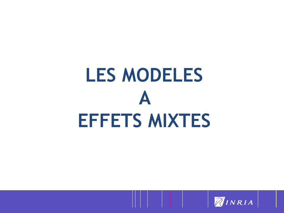 LES MODELES A EFFETS MIXTES
