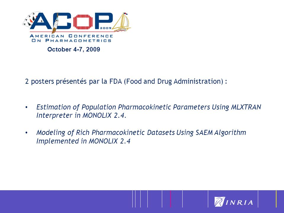 2 posters présentés par la FDA (Food and Drug Administration) :