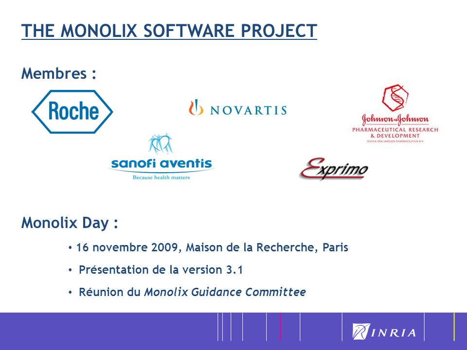 THE MONOLIX SOFTWARE PROJECT
