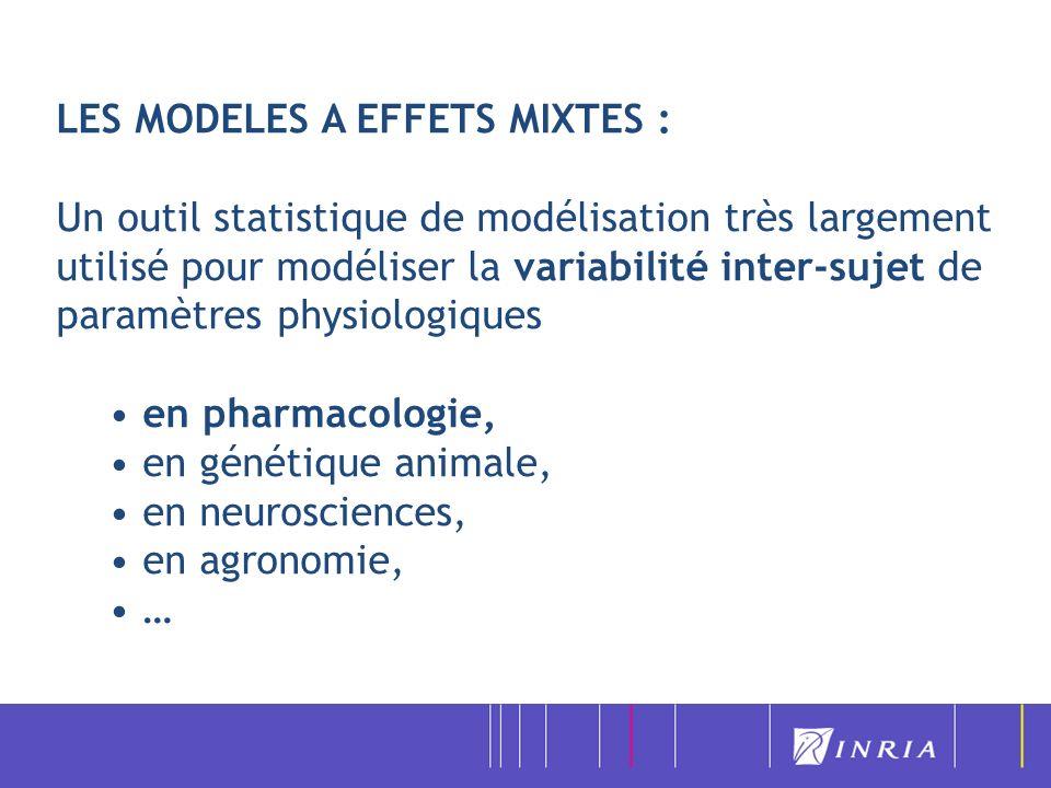 LES MODELES A EFFETS MIXTES :