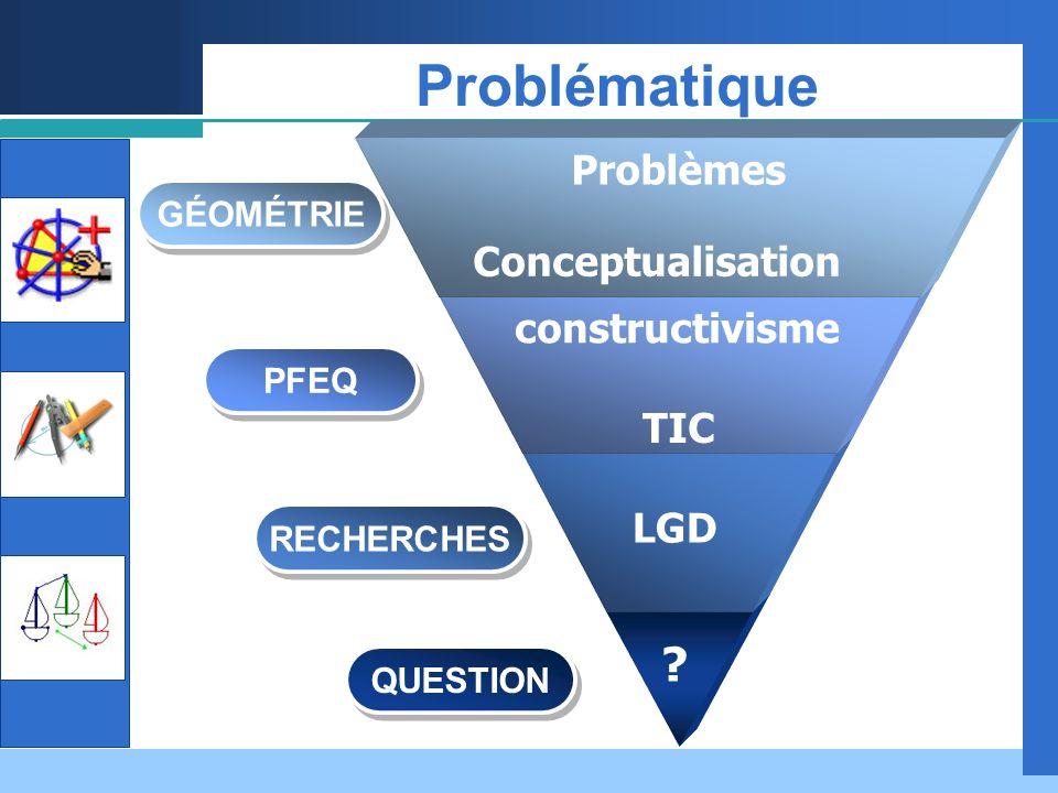 Problématique Problèmes Conceptualisation constructivisme TIC LGD