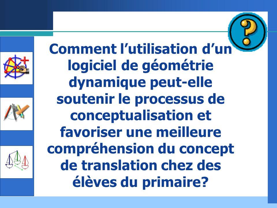 Comment l'utilisation d'un logiciel de géométrie dynamique peut-elle soutenir le processus de conceptualisation et favoriser une meilleure compréhension du concept de translation chez des élèves du primaire