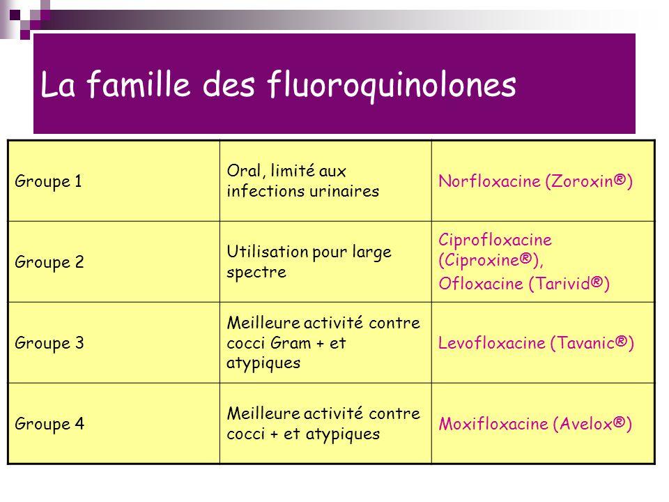 La famille des fluoroquinolones