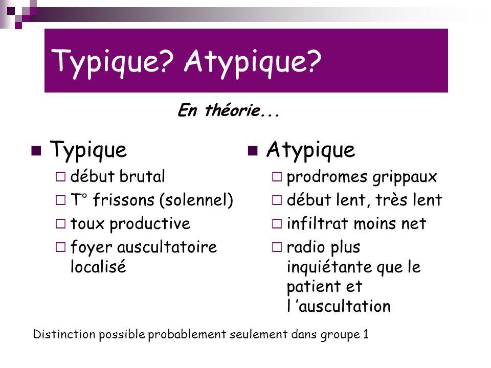 Typique Atypique Typique Atypique En théorie... début brutal