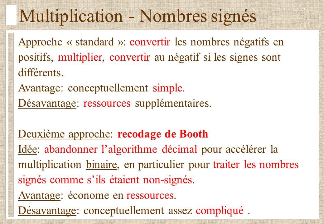 Multiplication - Nombres signés