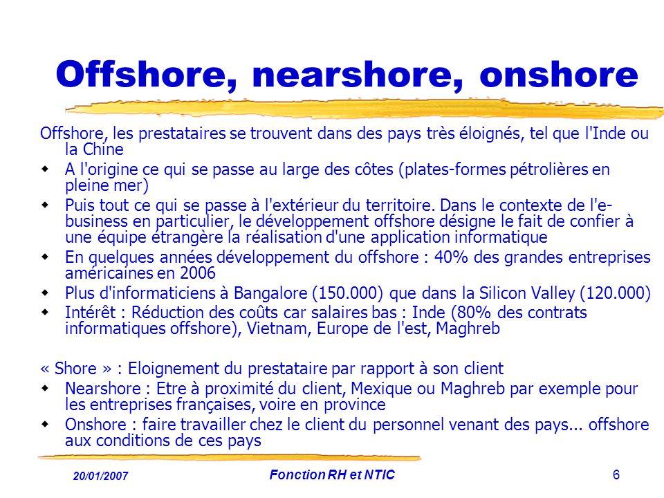 Offshore, nearshore, onshore