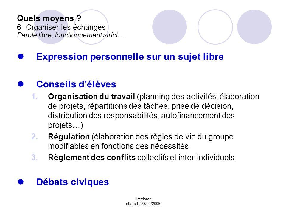 Illettrisme stage fc 23/02/2006