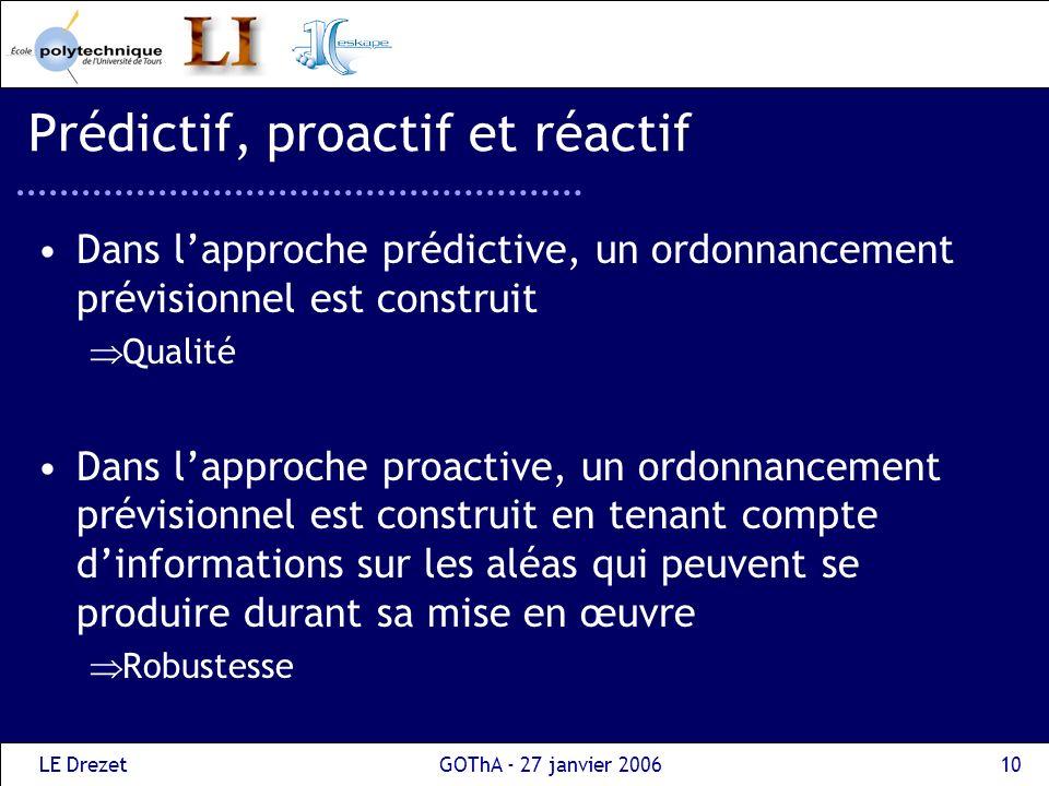 Prédictif, proactif et réactif