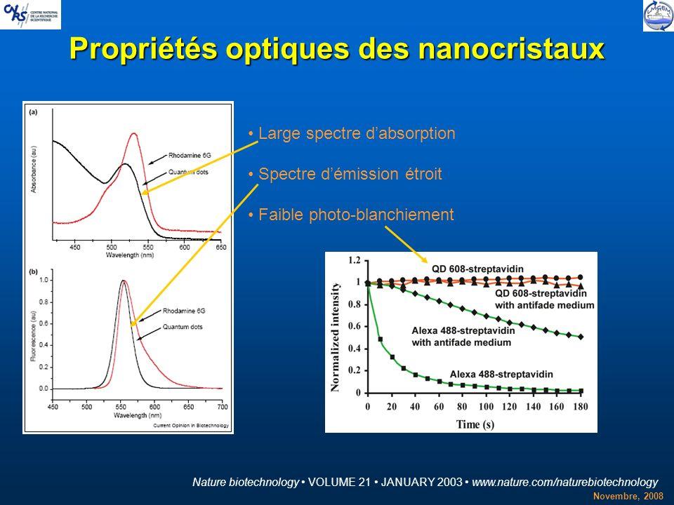 Propriétés optiques des nanocristaux