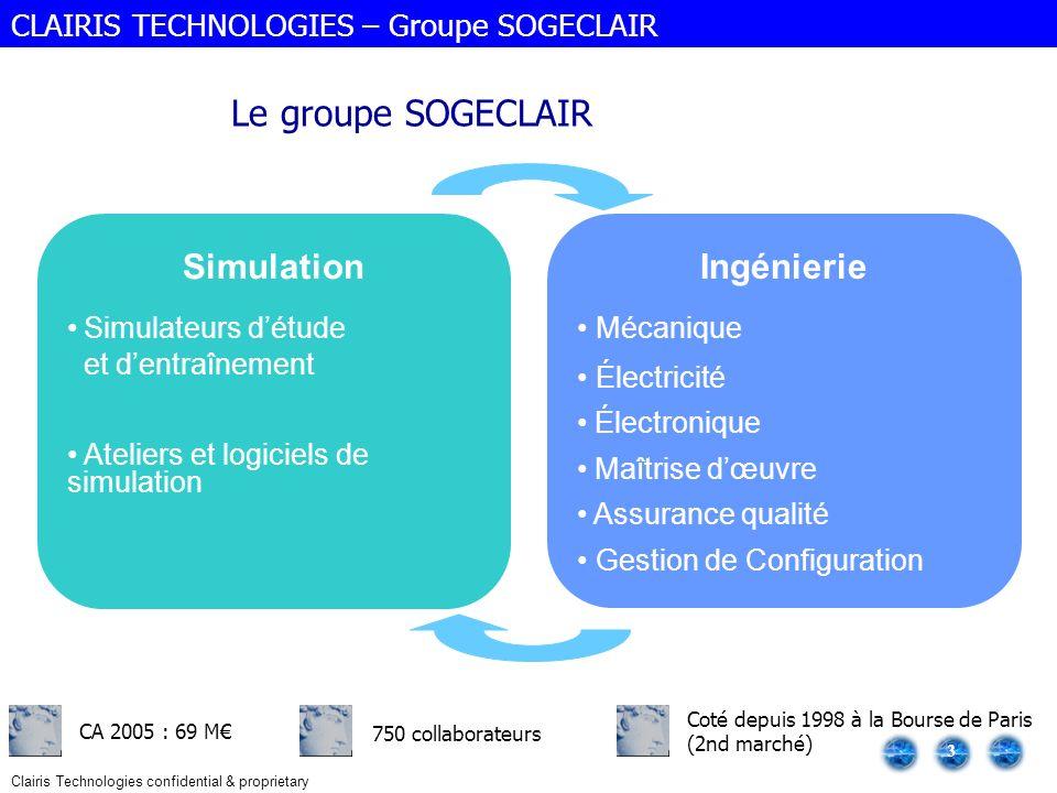 Le groupe SOGECLAIR Simulation Ingénierie