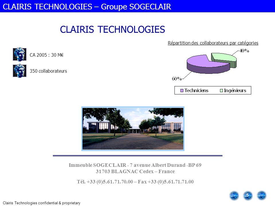 CLAIRIS TECHNOLOGIES CLAIRIS TECHNOLOGIES – Groupe SOGECLAIR