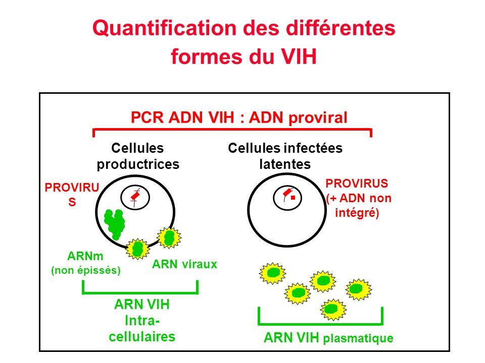 Quantification des différentes formes du VIH