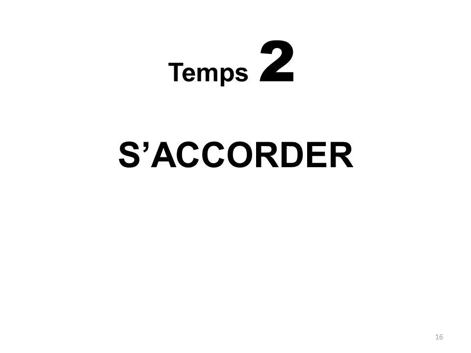 S'ACCORDER Temps 2 MODES DE REPRESENTATION DE LA MALADIE