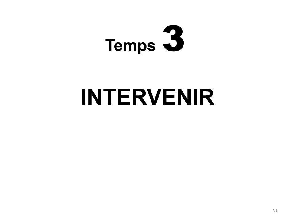 INTERVENIR Temps 3 MODES DE REPRESENTATION DE LA MALADIE