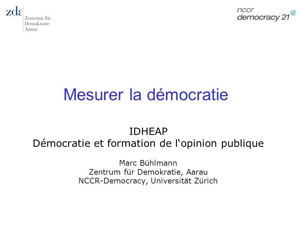 Mesurer la démocratie IDHEAP
