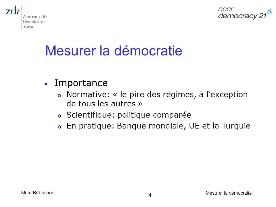 Mesurer la démocratie Importance