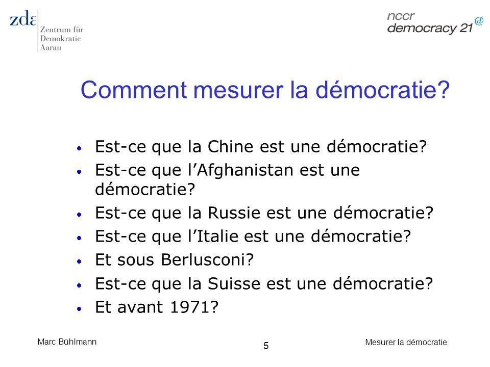 Comment mesurer la démocratie