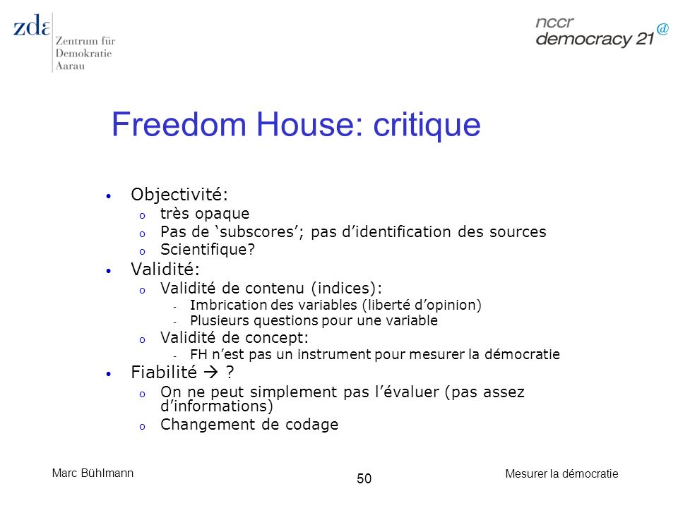 Freedom House: critique