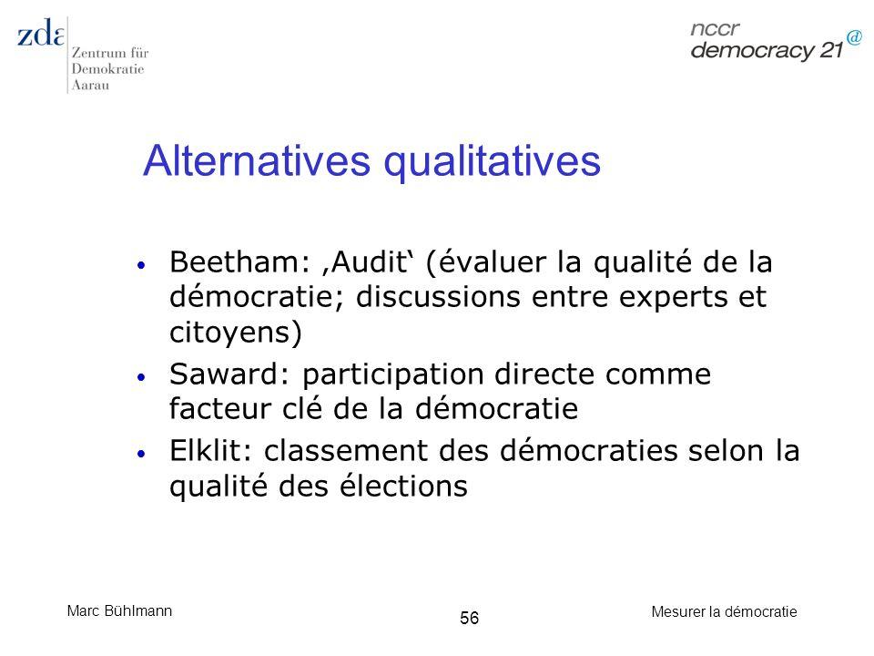 Alternatives qualitatives