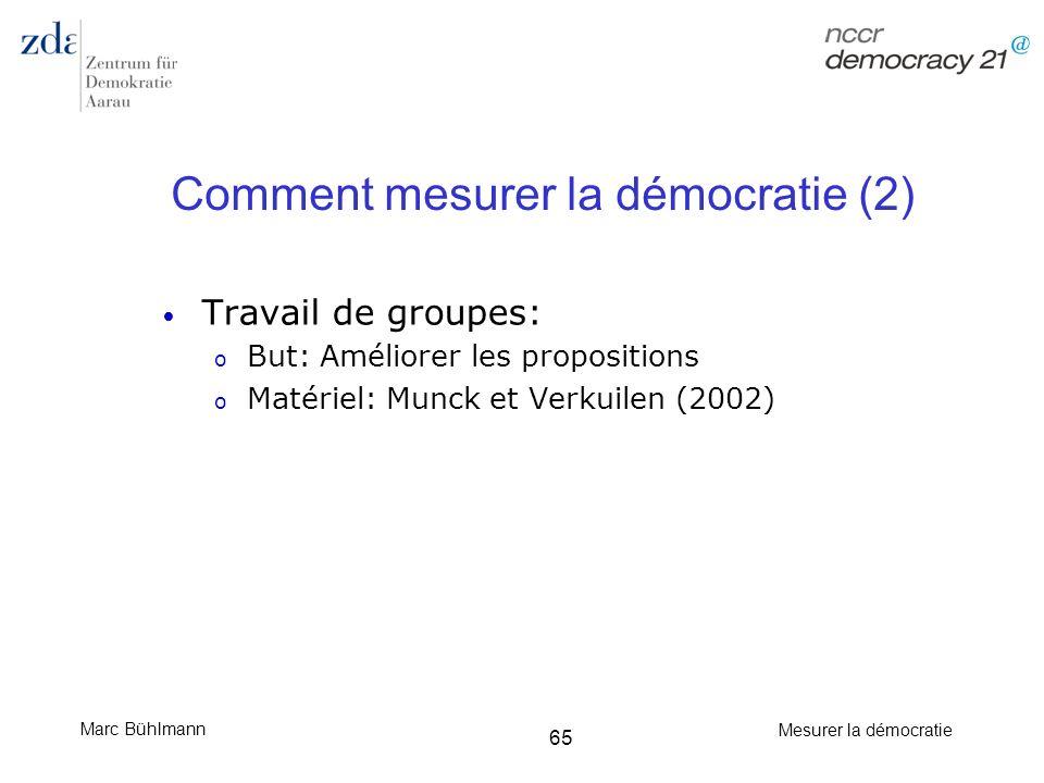 Comment mesurer la démocratie (2)
