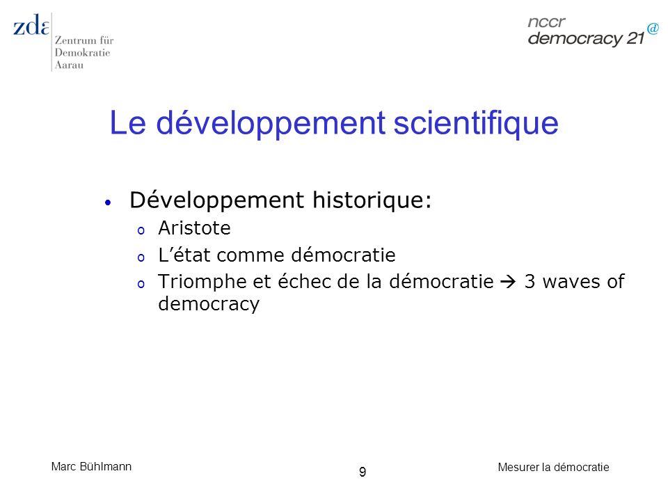 Le développement scientifique