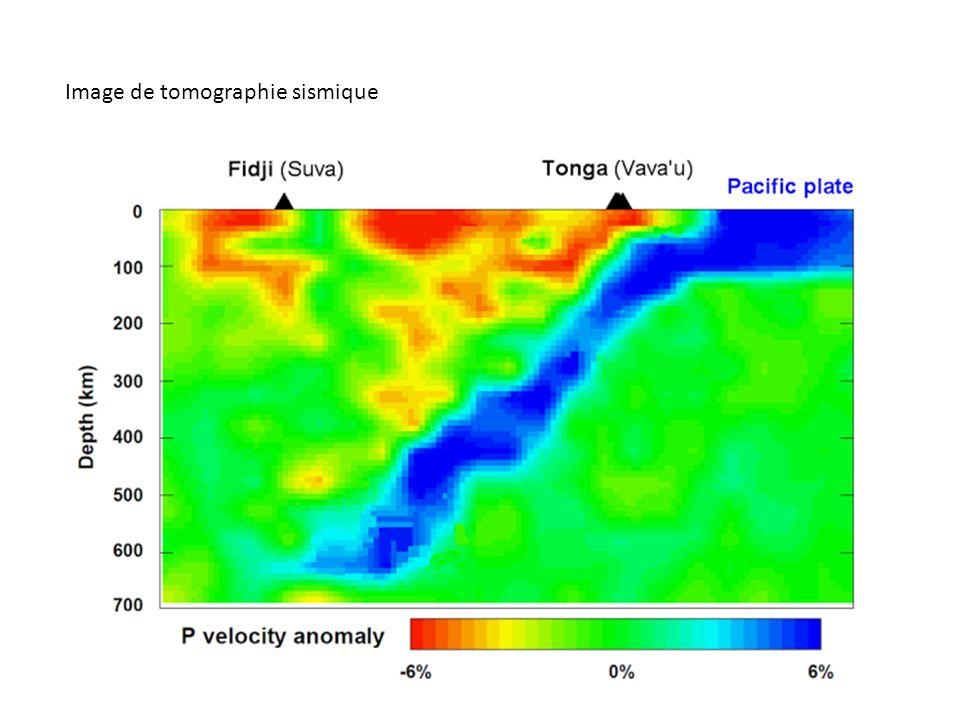 Image de tomographie sismique