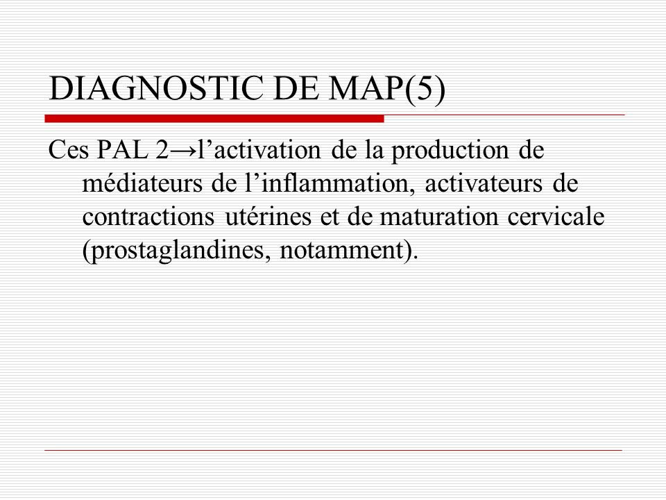 DIAGNOSTIC DE MAP(5)