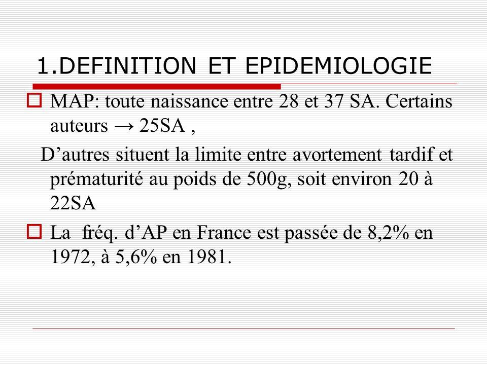 1.DEFINITION ET EPIDEMIOLOGIE