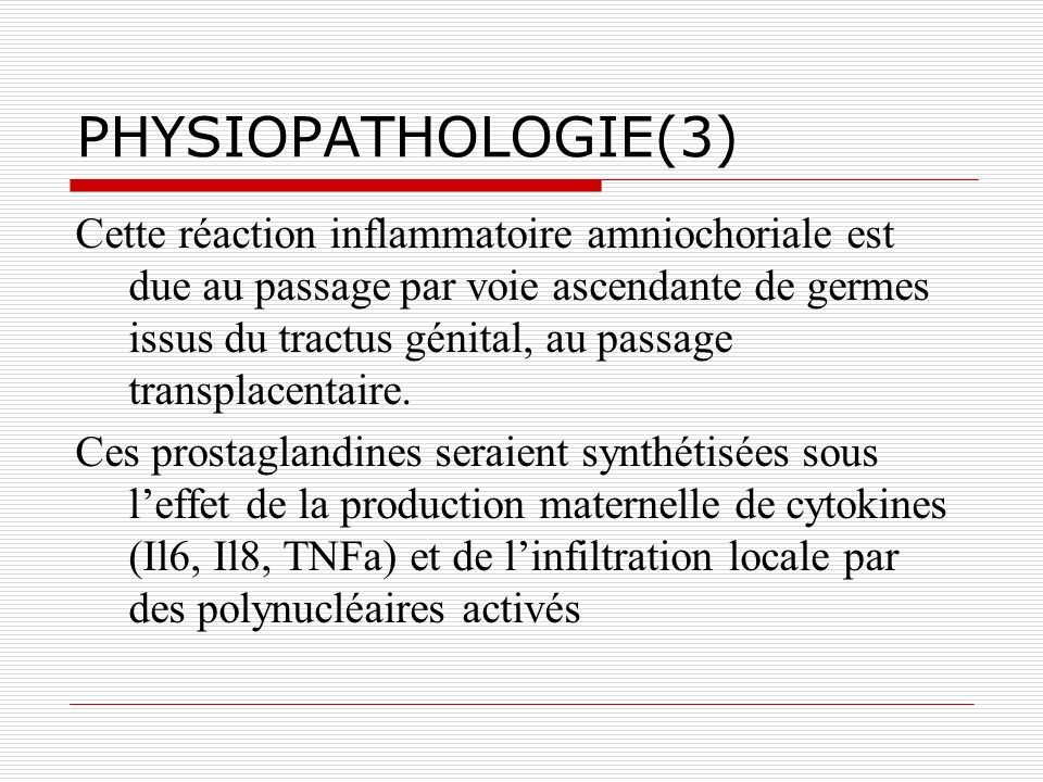 PHYSIOPATHOLOGIE(3)
