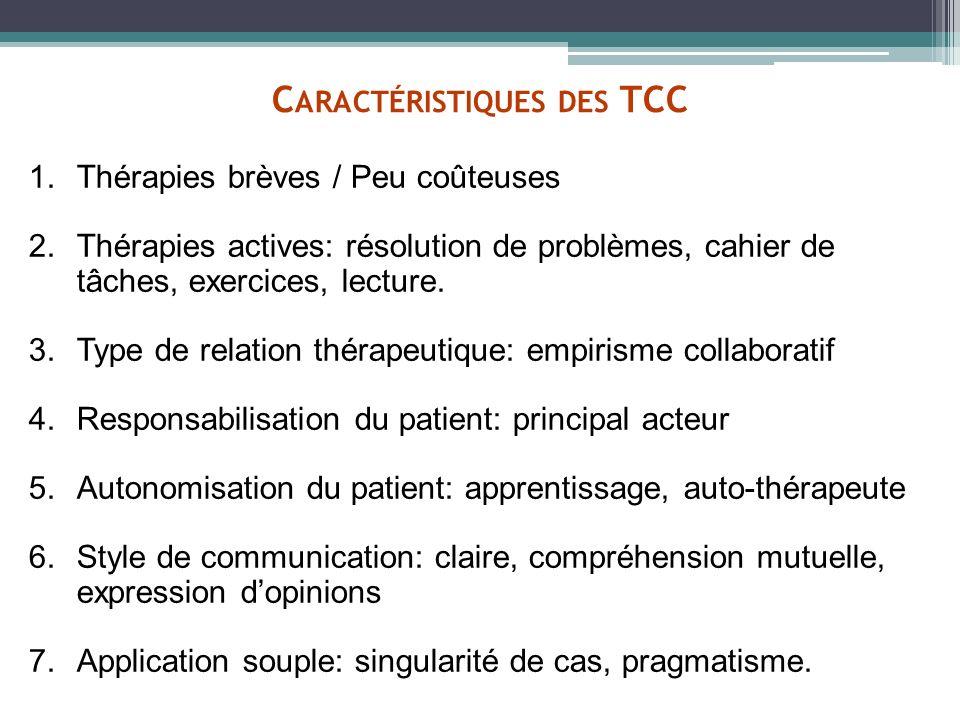 Caractéristiques des TCC