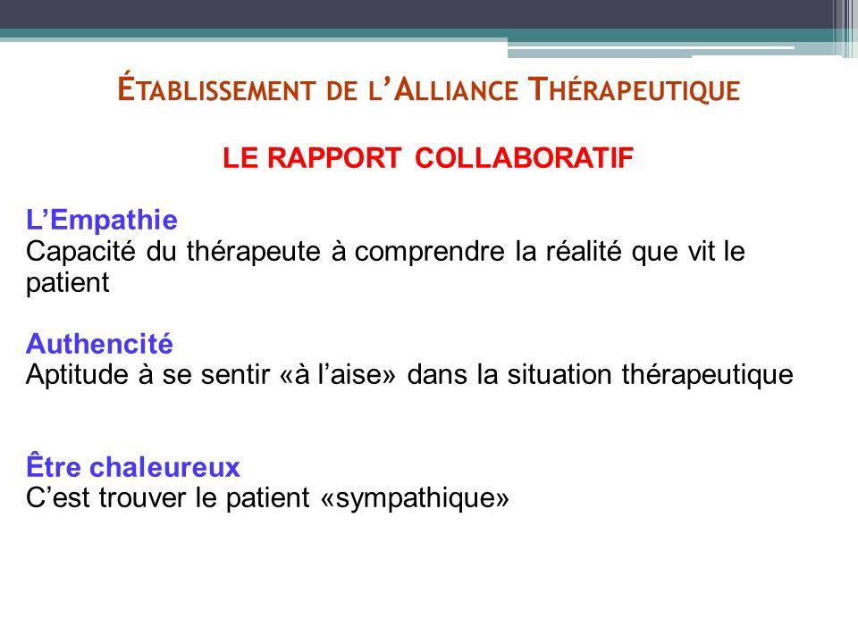 Établissement de l'Alliance Thérapeutique