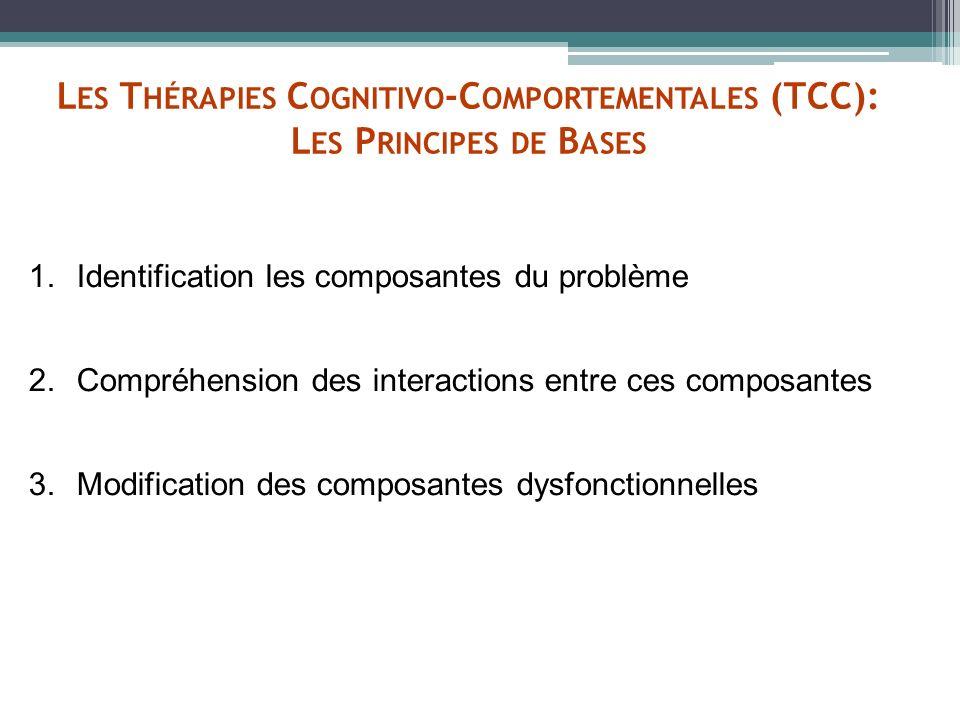Les Thérapies Cognitivo-Comportementales (TCC): Les Principes de Bases