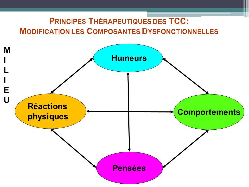 Principes Thérapeutiques des TCC: Modification les Composantes Dysfonctionnelles