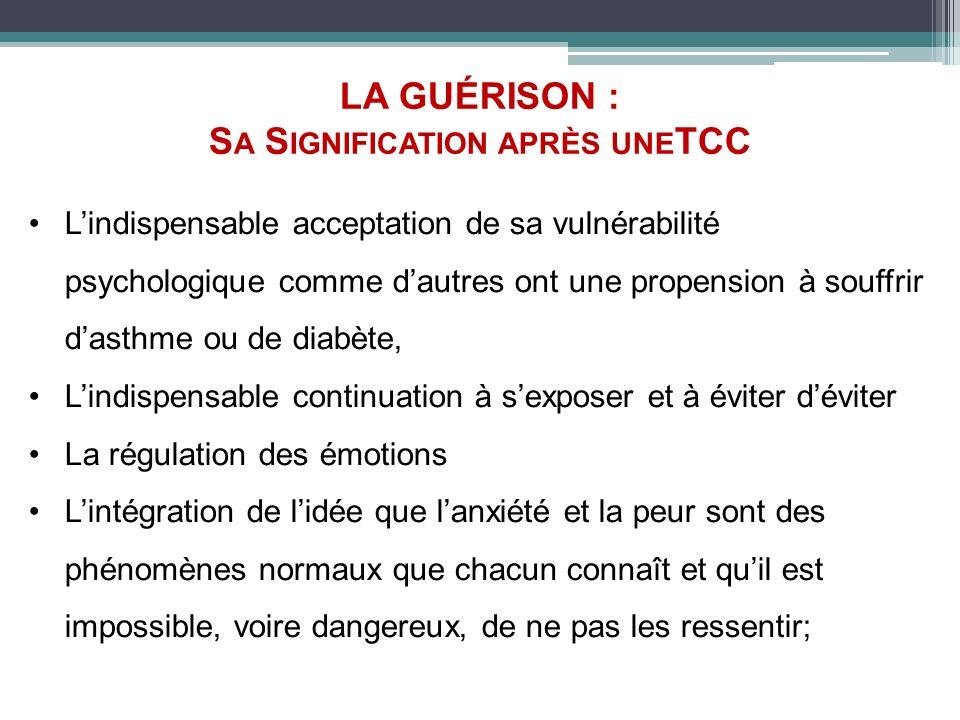 LA GUÉRISON : Sa Signification après uneTCC